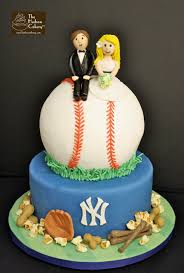 baseball wedding cake toppers yankees baseball wedding cake the hudson cakery
