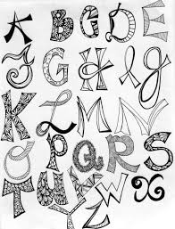 13 cool letter fonts to draw images easy to draw cool letter