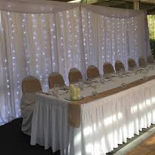 wedding backdrop melbourne hire bridal table backdrop with fairy lights wedding hire