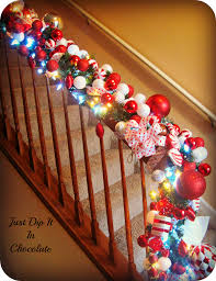 Christmas Railing Decorations Christmas Banister Decor U2013 Decoration Image Idea
