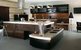modern hoem nice kitchen design eas with dark brown island also