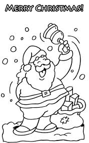 merry christmas free coloring christmas pages santa christmas