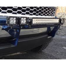 led lights for 2014 gmc sierra n fab front bumper textured black light bar with multi mount up to
