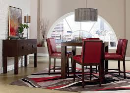 Counter Height Dining Room Set by Standard Couture Elegance Red Counter Height Set