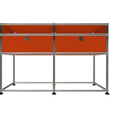 Orange Console Table Orange Usm Console The Socialite Family