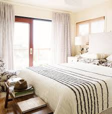 Black And White Striped Bedroom Curtains Black And White Stripe Curtains And Headboard Cottage Bedroom
