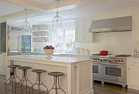 light pendants for kitchen island white center island with corsica 1 light pendants and industrial