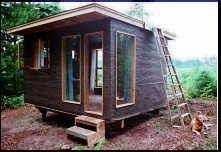Backyard Guest House Plans by 10x14 Cabin Tiny Houses Pinterest Cabin Roof Deck And
