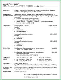 Sample Resume For Mechanical Engineer Fresher by International Resume Format For Mechanical Engineers