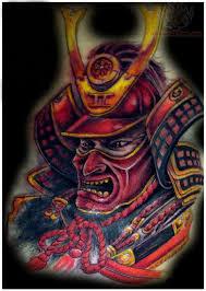 hannya mask samurai tattoo red samurai tattoo