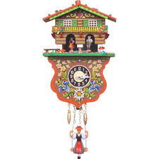 How To Wind A Cuckoo Clock Boy And Weather House Cuckoo Clock Walmart Com
