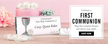 First Holy Communion Decorations First Holy Communion Favors Custom Chocolate Bars And Wrappers