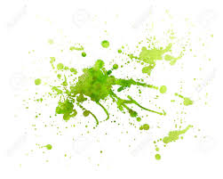 Green Paint Abstract Green Painting Splash Of Water Color With Texture Stock