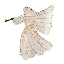 lighted tree topper northlight lighted scroll angel with trumpet christmas tree topper