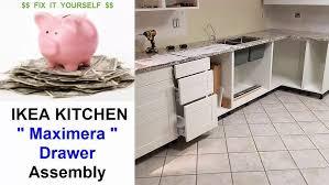 ikea kitchen cabinet drawer assembly ikea kitchen maximera drawer assembly