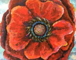poppy art etsy