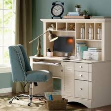 white desk with hutch and drawers white desks you ll love wayfair