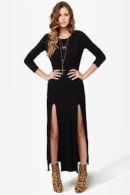 maxi dress black dress backless dress long sleeve dress