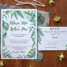 wedding invitations greenery greenery leafs wedding invitations nature wedding invitations