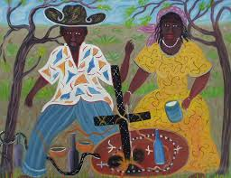 Haitian Flag Day Meaning A Painting By Haitian Artist Gérard Fortune Called U201choungan Et