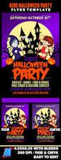 halloween party flyers templates kids halloween party flyer fonts logos icons pinterest