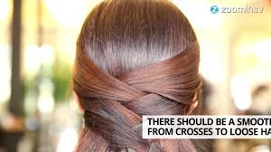 hair styles criss cross half updo how to in 60 seconds youtube