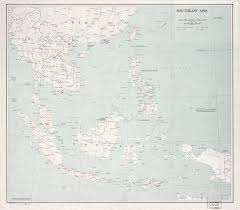 Southeast Asia Political Map by Large Scale Political Map Of Southeast Asia With Roads Railroads