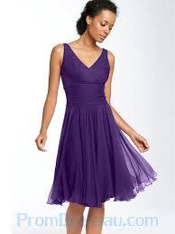 buy tailor made knee length v neck ruched elegant purple