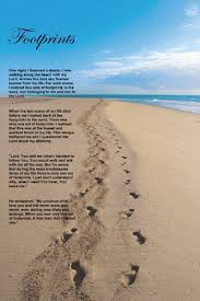 footprints in the sand gifts footprints in the sand motivational by arposterstudio on etsy