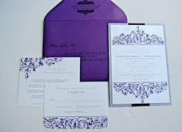 purple and silver wedding invitations purple and silver vintage wedding invitations lepenn designs