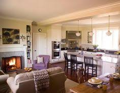 kitchen living space ideas build the fireplace out room for built ins black casings island