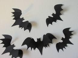 3d bats wall bats paper wall art bat silhouettes 5 large 3d