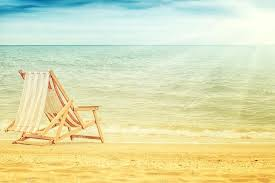 Vintage Chaise Lounge Old Vintage Chaise Lounge On Beautiful Beach Summer Background