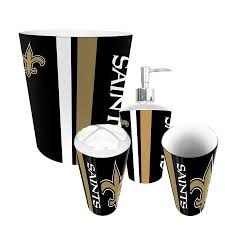 Bathroom Accessories Walmart Com by New Orleans Saints Nfl Complete Bathroom Accessories 4pc Set