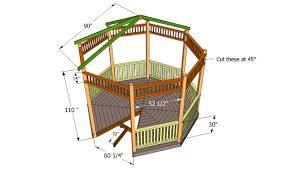 Octagonal House Plans Gazebo Plans Free Howtospecialist How To Build Step By Step