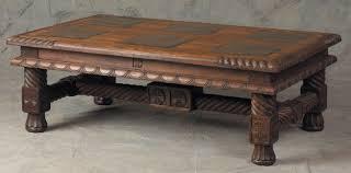 slate wood coffee table inlaid slate top teak wood coffee table brumbaugh s fine home