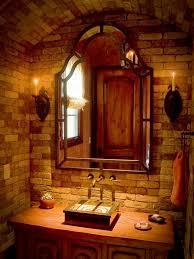 Tuscan Bathroom Vanity by Bathroom Design Ideas With Brick Walls For A Dreamlike Atmosphere