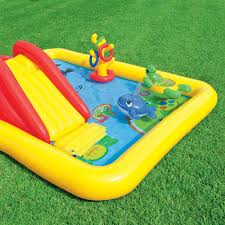 intex inflatable ocean play center kids backyard pool with games
