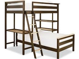 Twin Metal Loft Bed With Desk Smartstuff Myroom Twin Metal Loft Bunk Bed With 3 Shelves