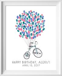 happy birthday or baby shower guestbook tricycle guestbook
