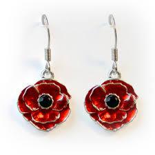 poppy earrings the royal canadian legion poppy drop earrings