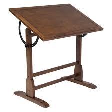 Home Hobby Table Studio Designs Vintage Drafting Table Rustic Oak Hayneedle
