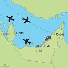 doha qatar map dubai abu dhabi doha customizable itinerary from