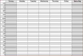 hourly calendar template daily work hourly schedule template