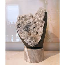 geode box quartz geode on marble stand shaun smith home