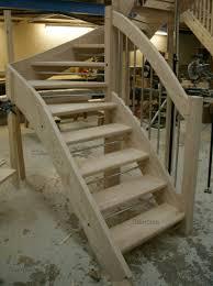 stair case ash open riser staircase european style handrail enhanced curves
