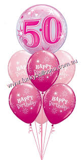 50th birthday balloon bouquets 50th birthday funky balloons brisbane qld helium balloon gift