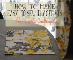 crafty easy no sew placemats
