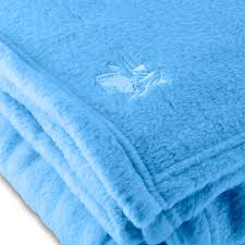 fleece hotel blanket 100 polyester light blue king 108 x 90