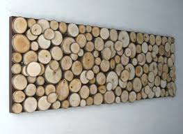 diy idea wood slice wall made diy crafts for